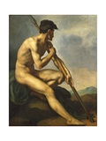 Nude Warrior with a Spear  C1816