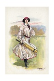 Portrait of a Woman Cricketer