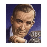 Ed Murrow Broadcasting from Blitz-Hit London