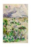 Mont Sainte Victoire from Les Lauves  1902-06