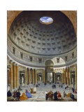 Interior of the Pantheon  Rome  C1734
