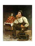 A Boy Eating Apples  1878