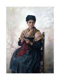 Peasant Girl Knitting  1873