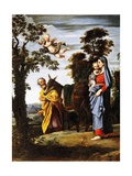 Flight into Egypt  by Domenichino