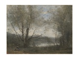 A Pond Seen Through the Trees  C1855-65