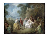 Courtly Scene in a Park  C1730-35