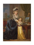A Young Lady and a Little Girl  C1785