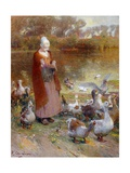 Shepherdess and Turkeys