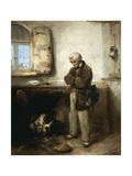 Old Man and Dog  Circa 1855