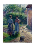 Peasant Women Chatting at Eragny  1895-1902