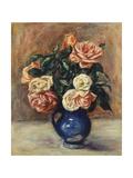 Roses in a Blue Vase  C1900