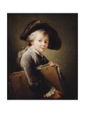 A Young Boy Holding a Portfolio  1760