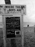 Welcome Sign for Spring Breakers  1962