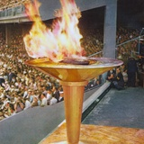 The Olympic Flame at the 1956 Melbourne Olympics