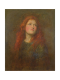 Portrait Study of a Girl with Red Hair  C1885
