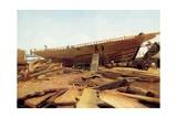 Shipbuilding  Gloucester  USA  1871