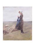 Shepherdess; Schafhirtin  1887