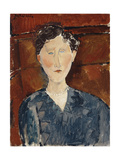 Portrait of a Woman in a Blue Blouse  C1916