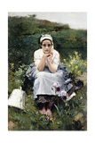 The Milkmaid  C1890