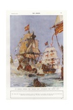 Scene from the Spanish Armada  1588