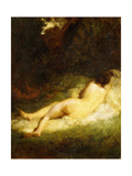 A Sleeping Nymph Blocked by a Satyr  C1846-47