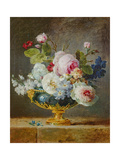 Flowers in a Blue Vase  1782