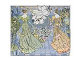 Women Surrounded by Flowers  C 1900