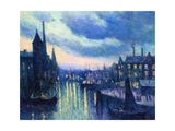 The Port of Rotterdam at Night  1908