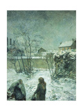 Snow  Carcel Road  1883