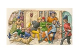 Game Ressembling Football in the Middle Ages