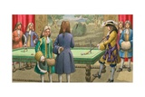 Billiards  as Played by Louis XIV at Versailles