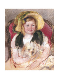 Sara with Her Dog in an Armchair  1901
