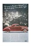 Advertisement for the Lincoln-Zephyr V-12  1937
