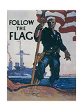 Follow the Flag  US Navy Recruitment Poster
