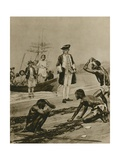 How Captain Cook Was Welcomed in Tasmania