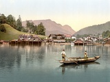 Fishing on Lake Konigsee  Bavaria  Pub C1895