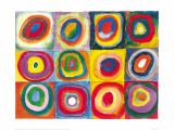 Étude de couleurs, vers 1913 Reproduction d'art par Wassily Kandinsky