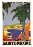 Sainte-Maxime Reproduction d'art par Roger Broders