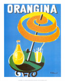 Orangina Reproduction d'art par Bernard Villemot