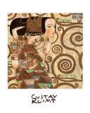 L'attente Reproduction d'art par Gustav Klimt