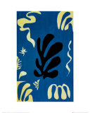 Composition Fond Bleu Reproduction d'art par Henri Matisse