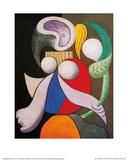 Femme à la fleur 1932 Reproduction d'art par Pablo Picasso