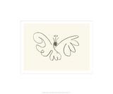 Le papillon Sérigraphie par Pablo Picasso