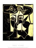 Femme au Chapeau Orne, c.1962 Sérigraphie par Pablo Picasso