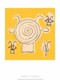 Tete de Faune en Grisaille avec Trois Figure