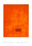 Untitled, c.1991 (Orange) Sérigraphie par Jürgen Wegner