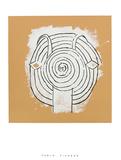Tete de faune en grisaille ave Sérigraphie par Pablo Picasso