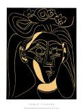 Femme au chapeau fleuri Sérigraphie par Pablo Picasso