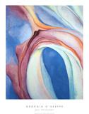 Musique rose et bleue Reproduction d'art par Georgia O'Keeffe