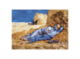 La méridienne Reproduction d'art par Vincent Van Gogh